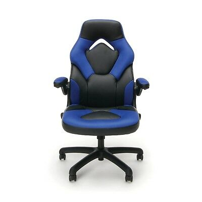 Office Gaming Chair Racing Ergonomic Swivel Seat Computer Desk Footrest Leather