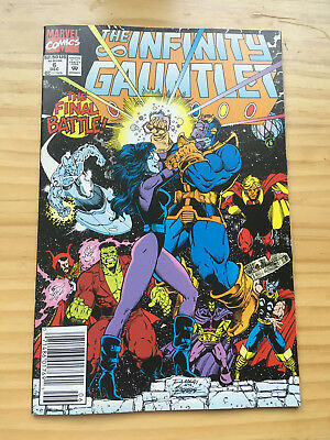 Infinity Gauntlet # 6 Newsstand Edition Vf Marvel Jim Starlin George Perez