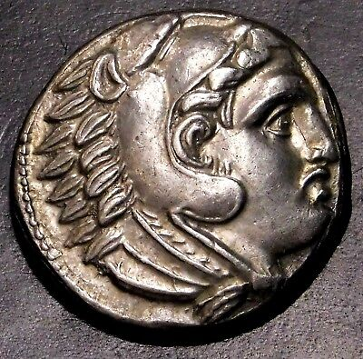 Alexander the Great. Magnificent Tetradrachm. Ancient Greek Silver Coin.