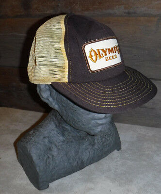 Vintage 1970's Olympia Beer Snap Back Trucker Hat Made In Usa L@@k