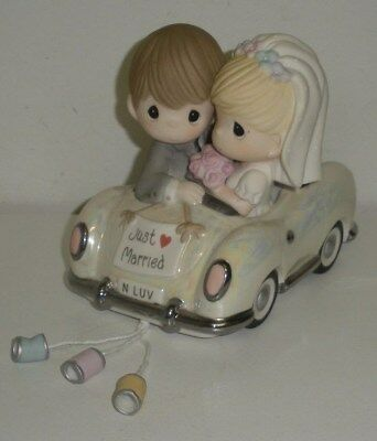 Precious Moments, JUST MARRIED, Porcelain Figurine (#103018,Dated 2010,No Box)