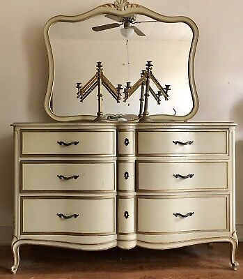 Vintage Drexel  Dresser With Mirror and secret compartment.
