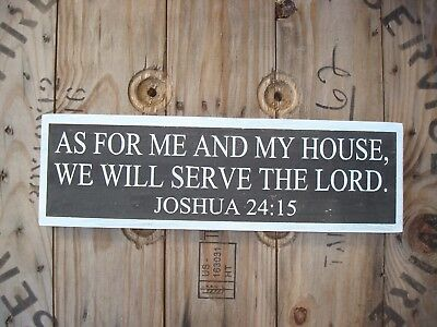 As for me and my house wood sign . Handmade farmhouse. Primitive home decor