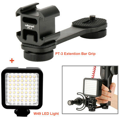 PT-3 Cold Shoe Bracket + W49 LED light for Microphone DJI Osmo Mobile 2 Gimbal