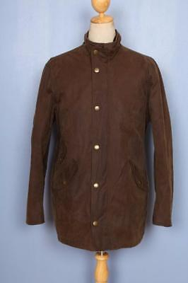 Mens BARBOUR Lundy WAXED Jacket Brown Size Large