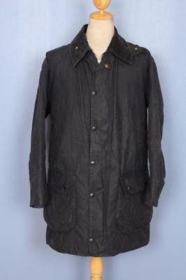 Mens BARBOUR Border WAXED Jacket Green Size 40