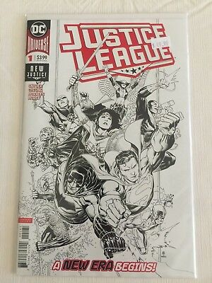 Justice League #1 Jim Cheung Ink Only 1:100 Variant Dc Comics (2018) New! Nm