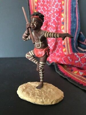 Australian Aboriginal Tiwi Island Handmade Figure with Spear  …beautiful collect