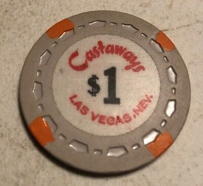 Castaways $1 Casino Chip Las Vegas Nevada 2.99 Shipping