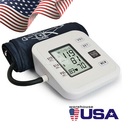 Digital Arm Blood Pressure Monitor Heart Beat Meter Medical Families Health Care