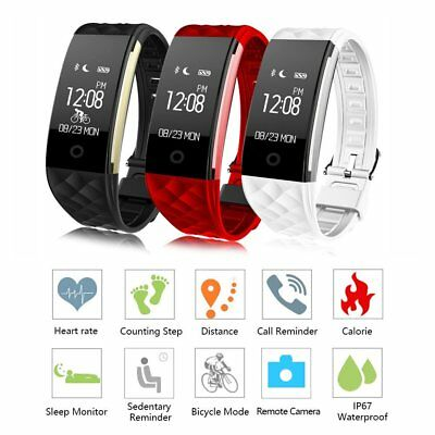 Smart Bluetooth Step Counter Activity Tracker Fitness Pedometer Bands Strap