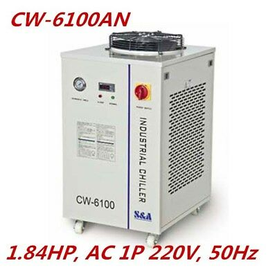 S&A 1.84HP AC220V CW-6100AN Industrial Water Chiller for 150W CO2 RF Laser Tube