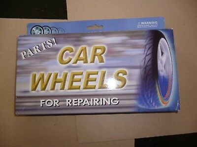 Set of 6 chrome wheels,brake discs& tires  to suit 1/18 & 1/16 scale model cars