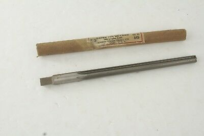 Vintage Union Taper Pin Reamer Straight Cut Cat# 845 Made In USA