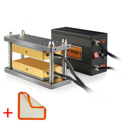 """Dabpress 3x7"""" Caged Plates Kit - Paired with 20 Ton Electric Hydraulic Press"""