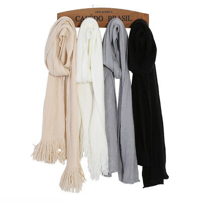 New Fashion Women Winter Wool Scarf Knitted Long Scarves Wrap Knit Shawl Warm