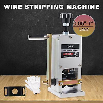 Manual Wire Stripping Machine Portable Scrap Cable Stripper Hand Crank Drill