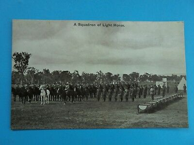 WW1 AUSTRALIAN A SQUADRON OF LIGHT HORSE c1910 GENUINE UNUSED POSTCARD