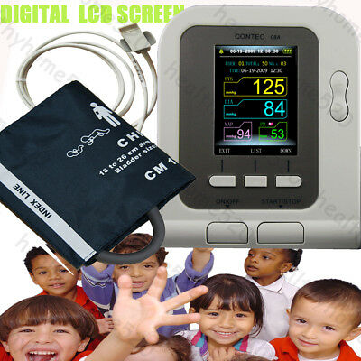 NEW child pediatric Digital Blood Pressure Monitor child Spo2 Probe software