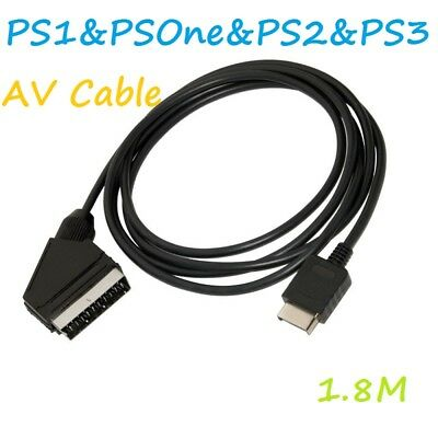 Scart AV Audio TV Cable Lead for use with Playstation Consoles PS1 PS2 PS3
