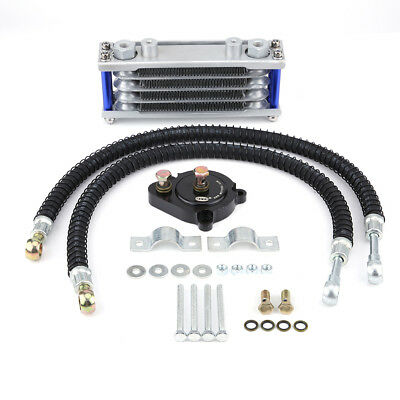 Silver Motorcycle Oil Cooler Cooling Radiator System Kit for Yamaha YS150