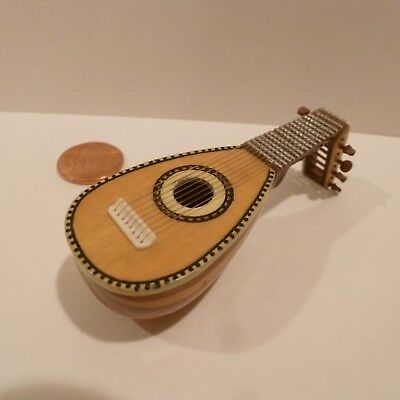 Ken Manning   Exquisite Miniature Lute With Bent Head     *rare Find*