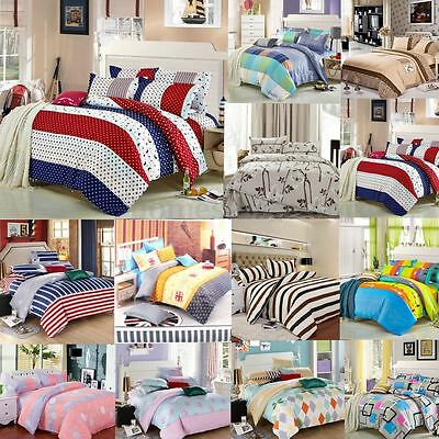 All Size Single Double King Duvet Cover with Pillow Case Quilt Cover Bedding Set