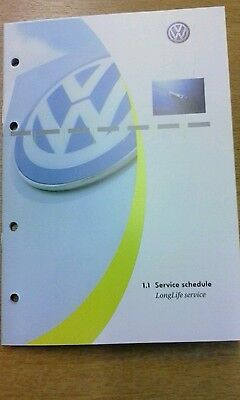 Volkswagen vw service book brand new not duplicate covers all models