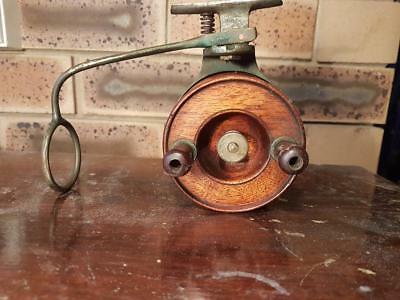 Alvey Vintage Timber Spool Old Brass Foot Line Guide One of the First WOW