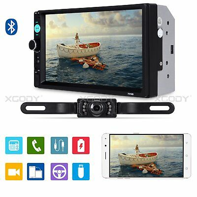 """7""""  2DIN Touch Screen Car Stereo Radio MP5 MP3 Player Bluetooth + Rear View Cam"""