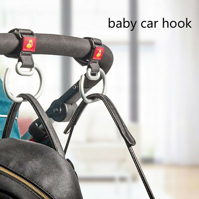 2X Universal Baby Pushchair Stroller Pram Hook Shopping Bag Hanger Carabiner AU