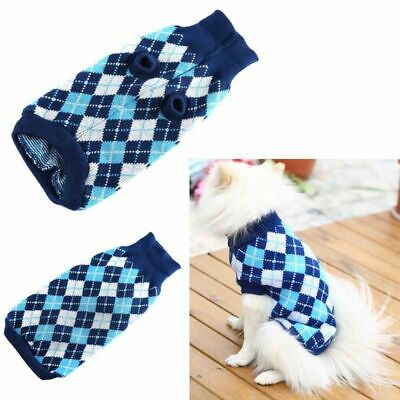 Pet Dog Warm Knit Sweater Small Puppy Cat Winter Clothes Thick Apparel Jacket