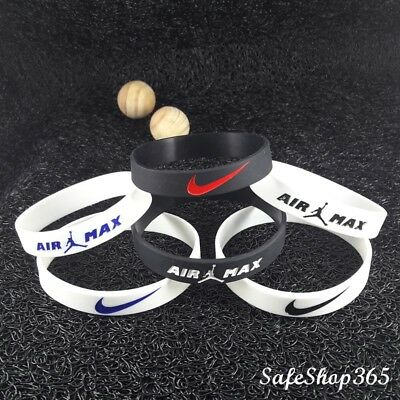 2x Wristbands NIKE 3D Silicone Bracelet Sport Baller Band Air Jordan Basketball