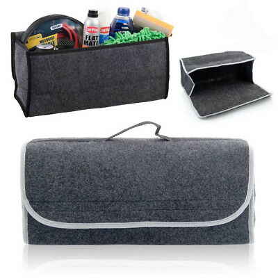 Tapis Grey Voiture Protection Tidy Organisateur Stockage Coffre Sac Avec Poches