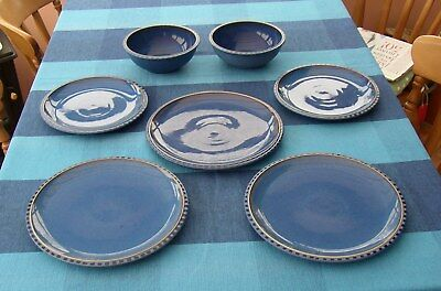 Denby Reflex bowls dinner and salad plates