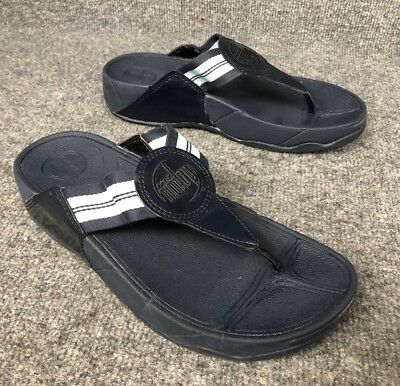 63245a40d4a5a8 FITFLOP WOMEN S NAVY Blue SUEDE TOE-THONG SANDALS Size US 9M A47 ...