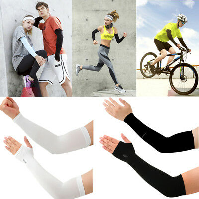 Ice Silk Arm Cuff Sleeves UV Sun Protection Children Outdoor Cycling Sports