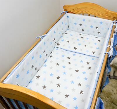 6 Piece Baby Cot Bedding Set With 4 sided Bumper to fit 120x60 cm - Pattern 20