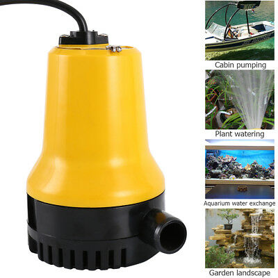 DC12V/24V 50W Submersible Miniature Water Pump Clean Clear Dirty Pool Pond Flood