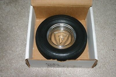 Vntg Firestone F Logo Champion Deluxe Tubeless Tire Mexico Advert. Promo Ashtray
