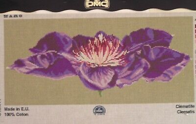 Clematis Flower Tapestry To Stitch