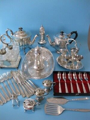 Lovely Large Job Lot of Antique & Vintage Silver Plated Items & Cutlery