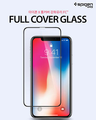 Spigen iPhone X XS Max Premium Full Coverage Tempered Glass Screen Protector