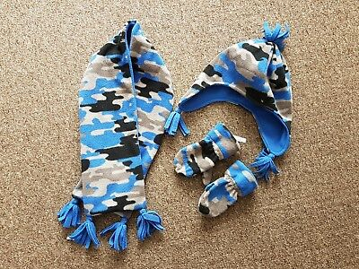 Boys Hat Gloves And Scarf Set From M&s Marks & Spencer. 18-24 Months. 3 Years