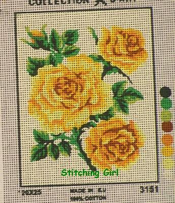 Yellow Roses Tapestry To Stitch ~ Small