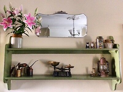 Beautiful Antique 'Tiara' Mirror With Bevelled Edges