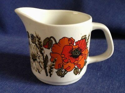 J and G Meakin. Small Jug. Studio. Floral..