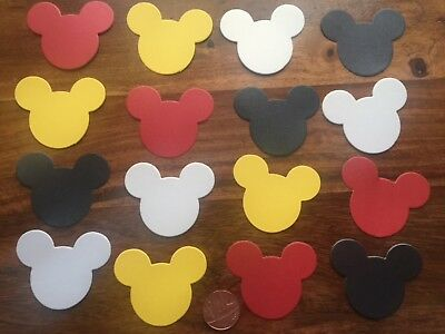 50 XL Mickey Mouse heads ears LARGE party card table confetti red white black