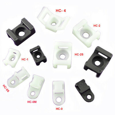 Cable Ties Base Saddle Cradle Mounts Bases Wire Clips Clamps Cable Ties Holder