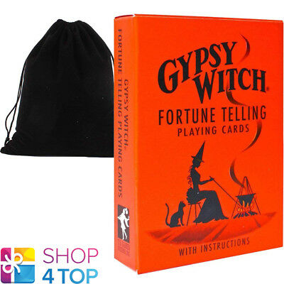 Gypsy Witch Tarot Deck Playing Cards Us Games Systems With Velvet Bag New